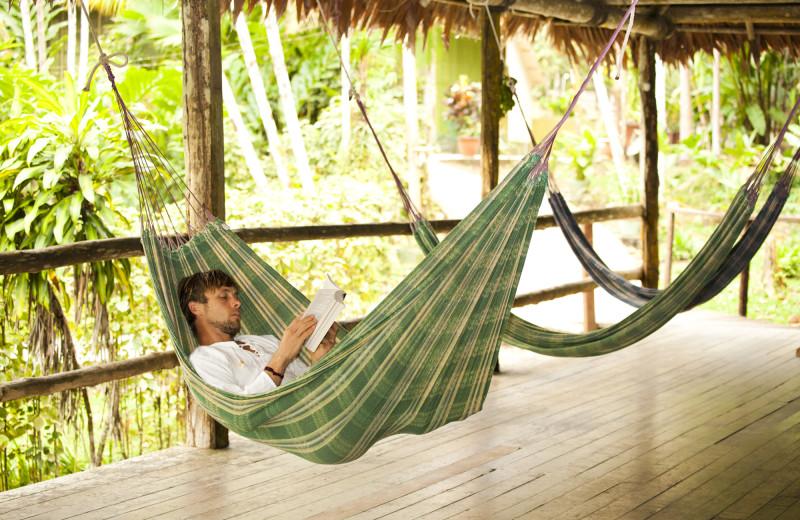 Relaxing at Ceiba Tops Lodge Resort.