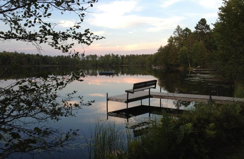 Dock at Cycle Lake Resort.