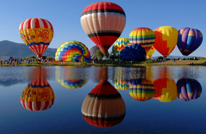 Hot air balloons at Steamboat Lodging Properties.