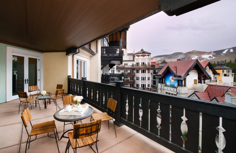 Balcony view at Arrabelle at Vail Square.