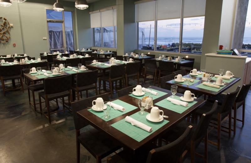 Dining at Crowne Plaza Melbourne Oceanfront Resort.
