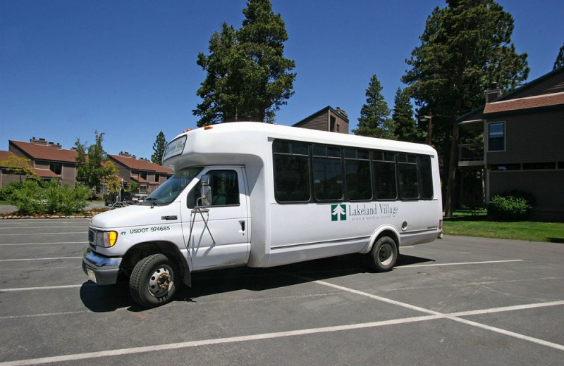 Free shuttle for the around the area at Aston Lakeland Village.