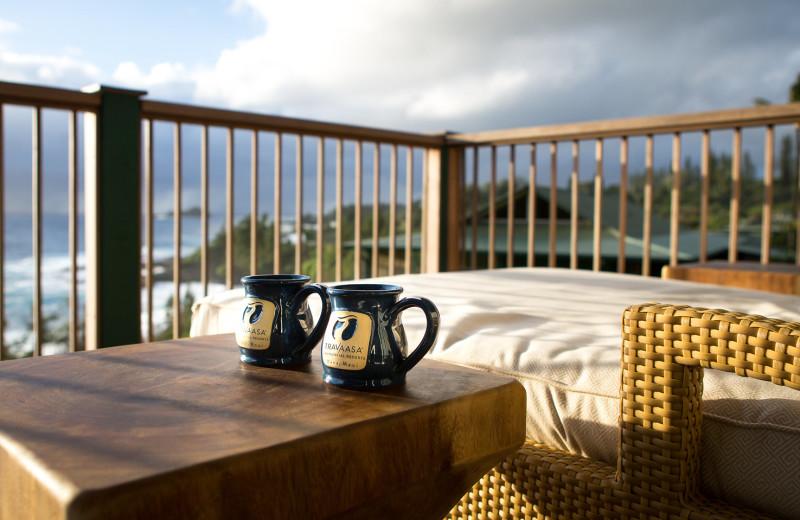 Balcony view at Travaasa Hana.