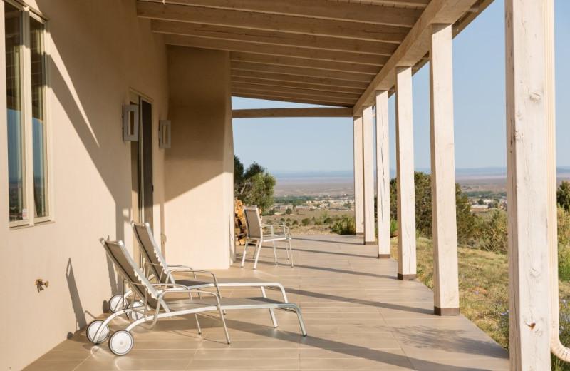 Porch at Adobe Zen House.