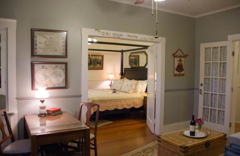 Guest room at The Brenham House Bed & Breakfast.