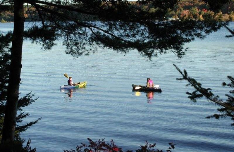 Kayaking at Westwind Inn on the Lake.
