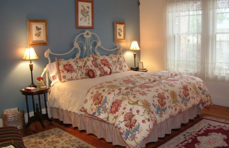 Guest bedroom at Magnolia House.