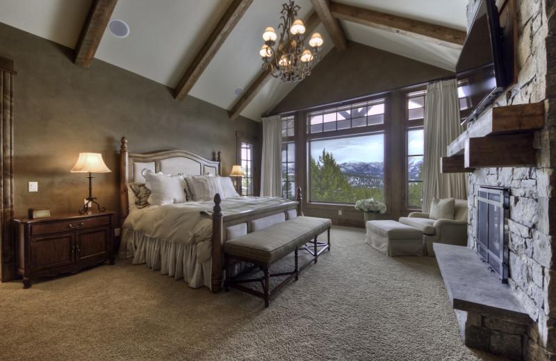 Rental bedroom at Big Sky Luxury Rentals.