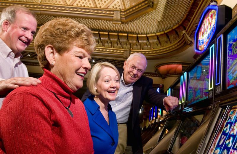 Slot machines at Turning Stone Resort Casino.