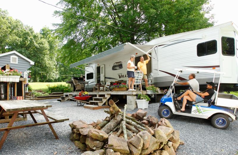 Camping at Hickory Run Family Campground.