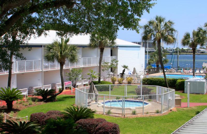 Exterior view of Marina Bay Resort.