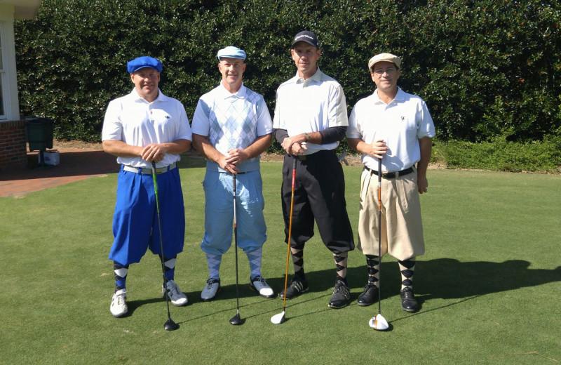 Golfers at Sandhills Rentals.