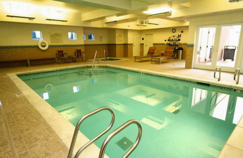 Indoor pool at Hampton Inn & Suites Tacoma-South.