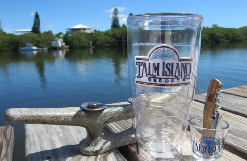Enjoy a drink at Palm Island Resort.