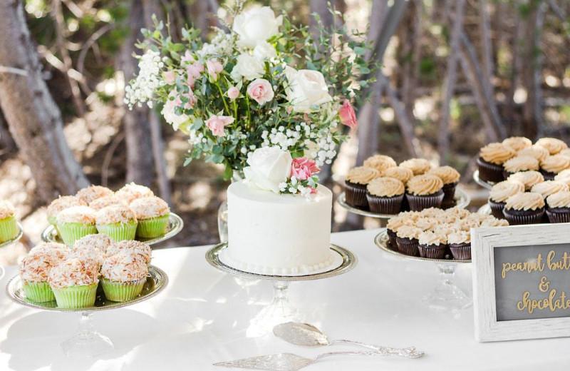 Wedding reception at Elk Lake Resort.