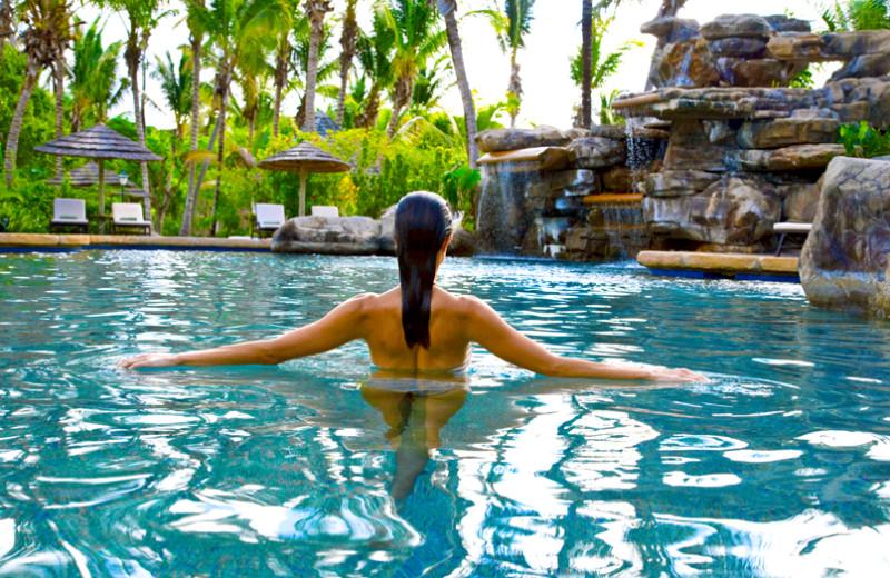 Outdoor pool at Galley Bay Resort & Spa.
