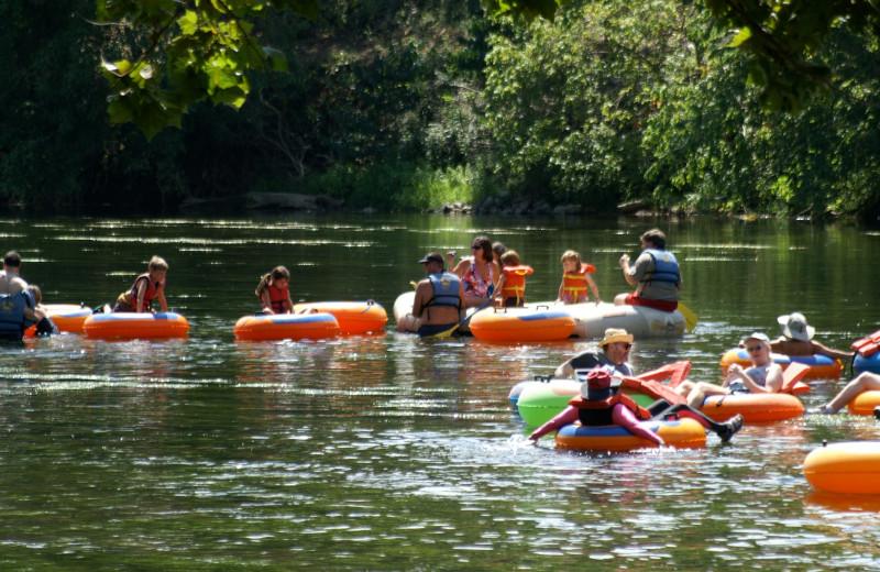 River tubing at Shenandoah River Outfitters.