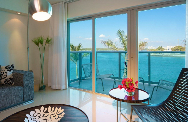 Guest balcony at Bal Harbour Quarzo Luxury Boutique Hotel.