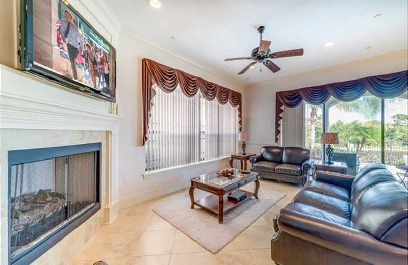 Rental living room at Luxury Reunion Rentals.