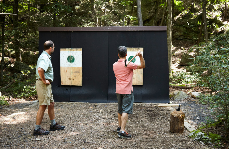 Target practice at Mohonk Mountain House.