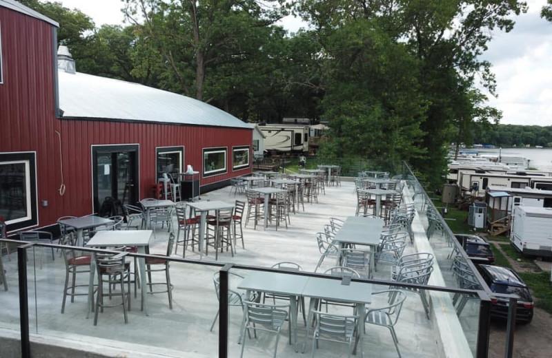 Patio at Big Pine Lodge Resort