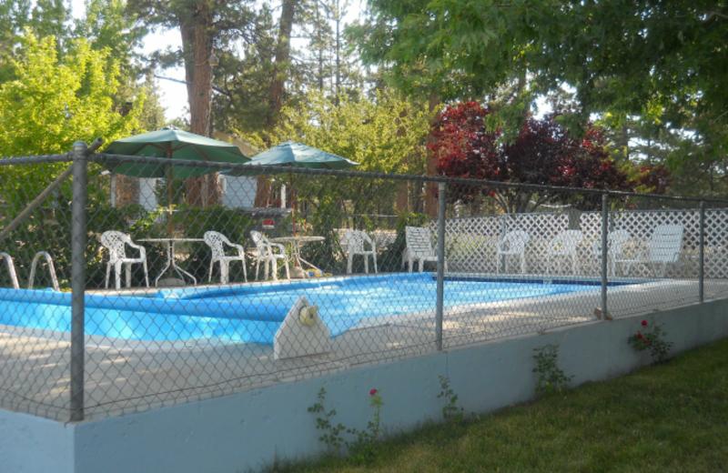 Outdoor swimming pools at Blue Horizon Lodge.