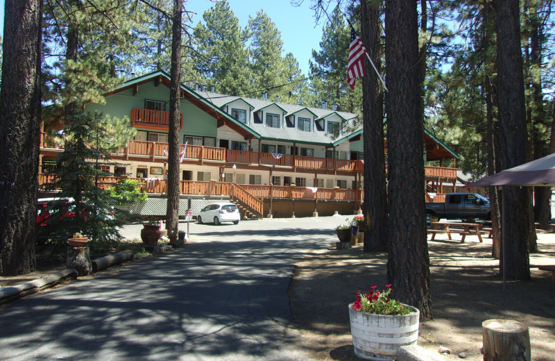 Exterior view of Honey Bear Lodge & Cabins.