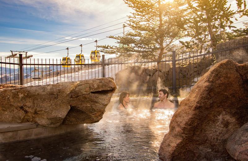 Rental hot tub at First Choice Properties.