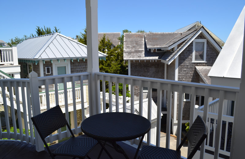 Guest balcony at The Inn at Bald Head Island.