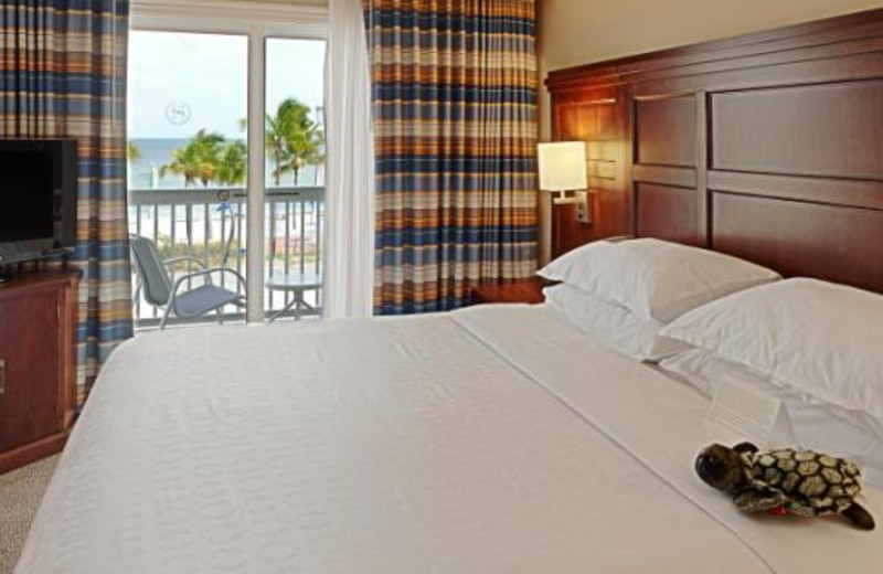 Guest room at Sheraton Suites Key West.