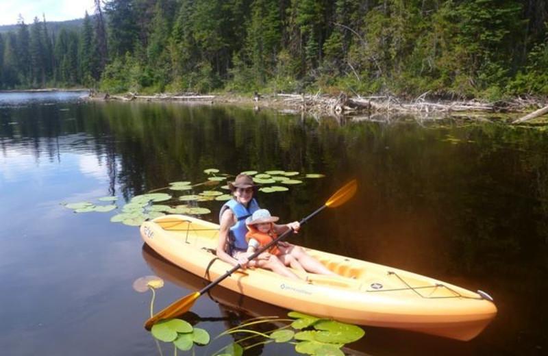 Kayaking at Star Lake Fishing Resort.