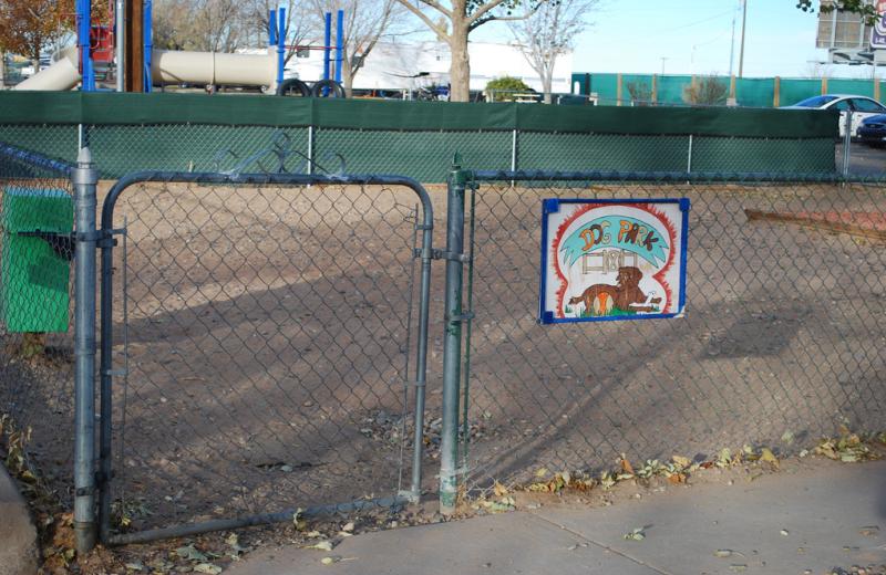 Dog park at American RV Park.