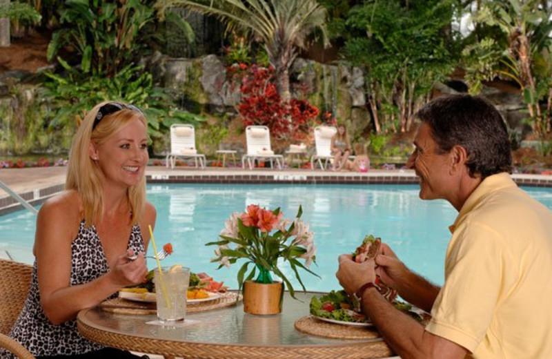 Dining Poolside at Park Shore Resort