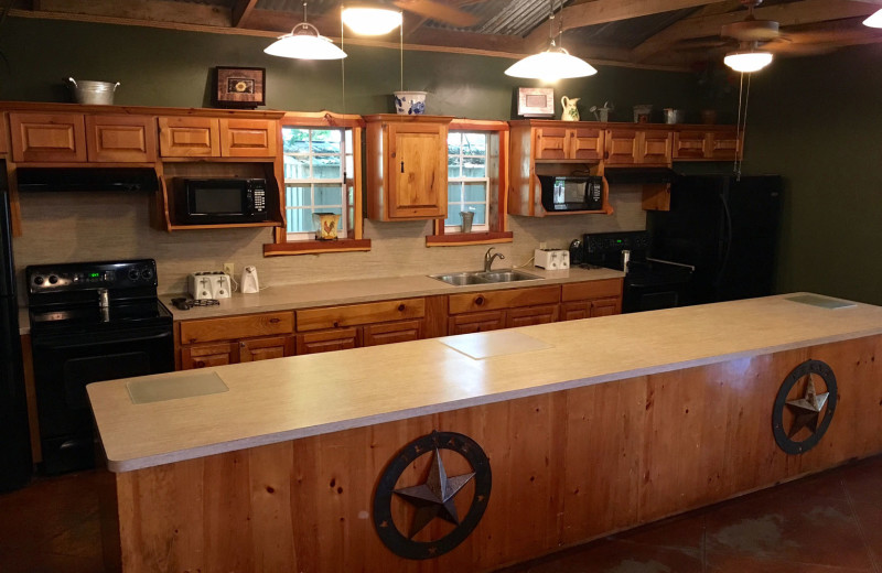 Lodge kitchen at Heart of Texas Lake Resort.