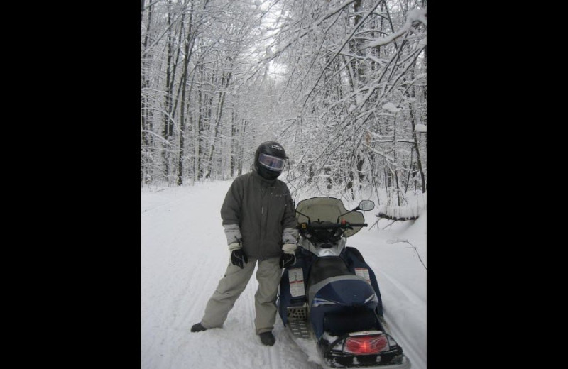 Snowmobiling at The Conger Collection.
