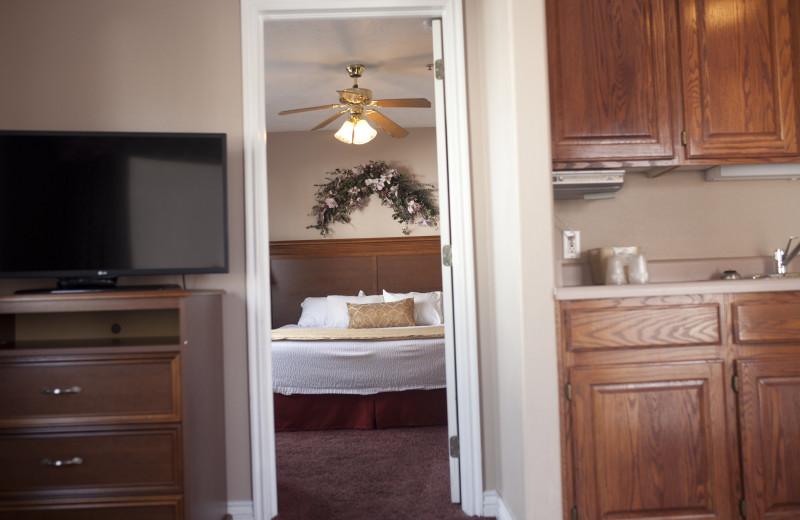 Guest room at St. George Inn