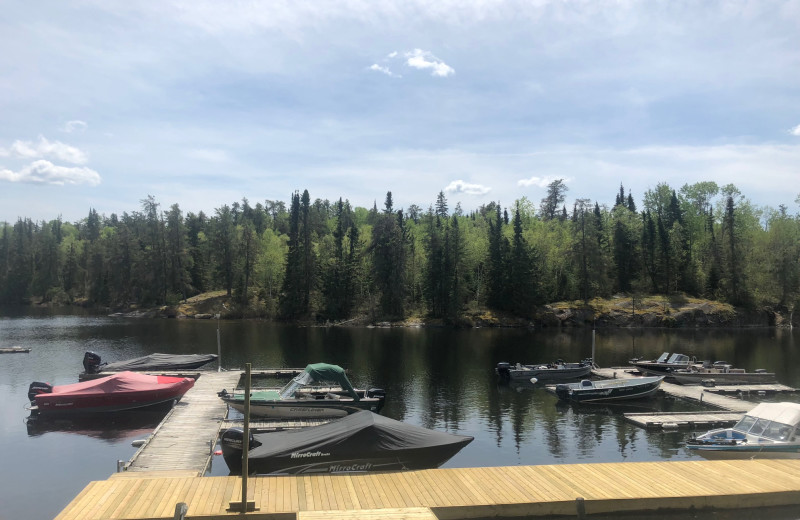 Dock at Dogtooth Lake Resort.