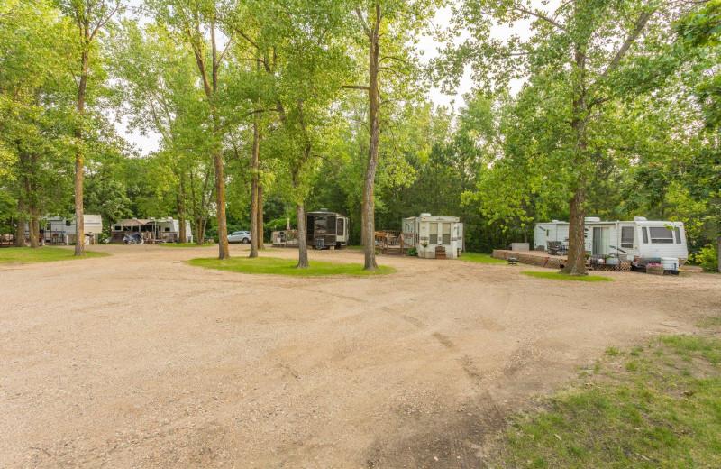 Campground at Barrett Lake Resort.