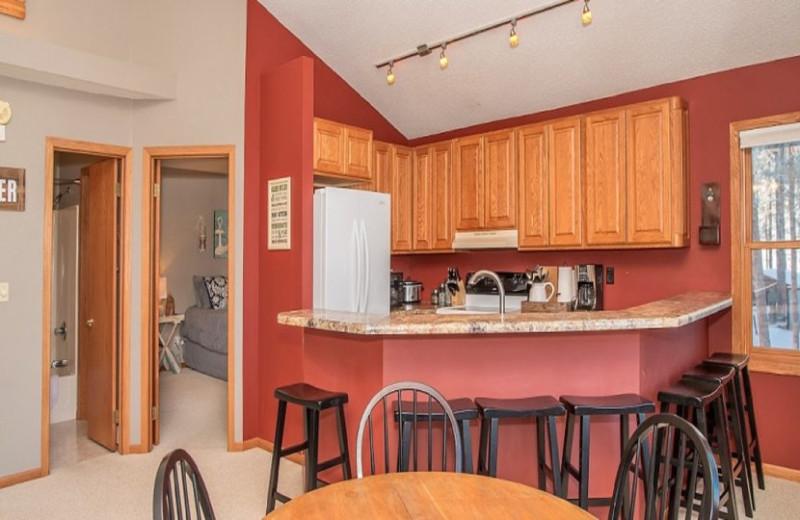 Rental kitchen at Edelweiss Mountain Lodging.