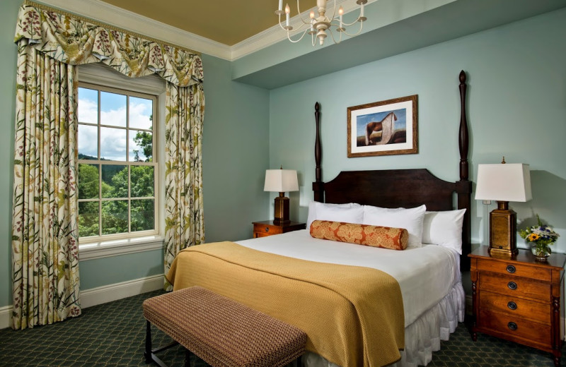 Guest room at The Otesaga Resort Hotel.