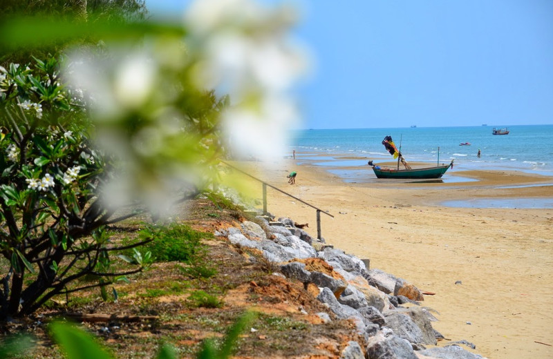 The beach at Foresta Resort.