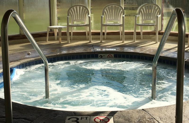 Hot tub at Open Hearth Lodge.