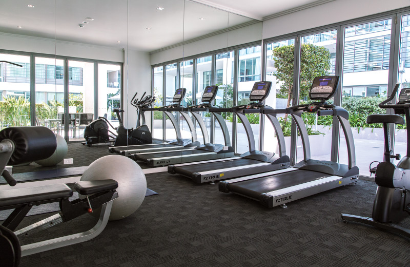 Fitness room at Freshwater Point Resort.