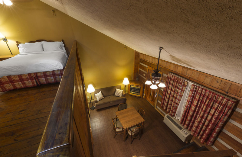 Guest loft at Timbers Lodge.