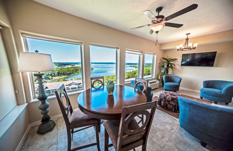 Condo living room at Thousand Hills Vacations.