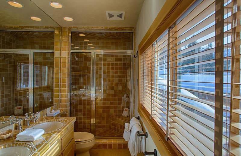 Vacation rental bathroom at Grand Targhee Resort.