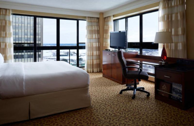 Guest room at Ottawa Marriott Hotel.