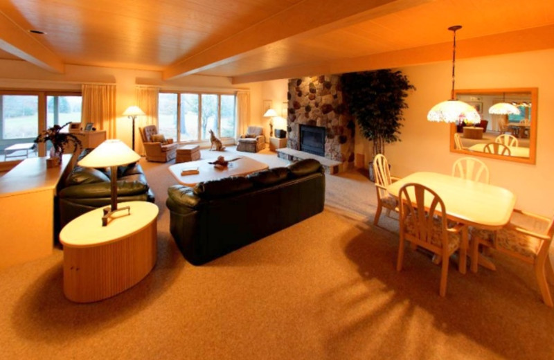 Rental interior at Madeline Island Rentals.