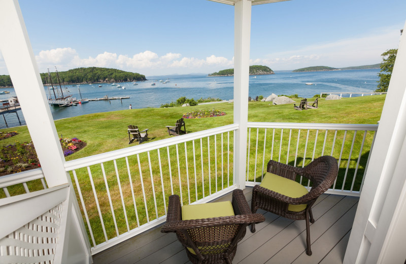 Balcony at Bar Harbor Inn & Spa.