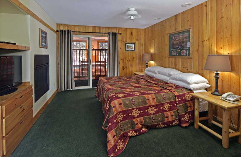 Guest room at Superior Shores Resort.